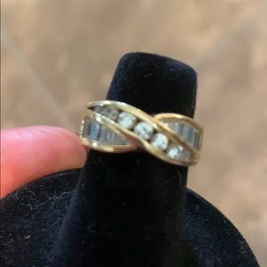 Ring. Gold band costume.